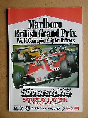 1981 British Grand Prix Programme. Signed Mansell Rosberg & Others (37388)