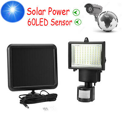 Elecotonic Outdoor Solar Power 60 LED Motion Sensor PIR Security Light Freepost