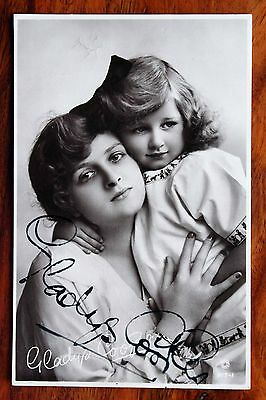 Gladys Cooper Photo Postcard Rp Autographed Hand Signed Actress