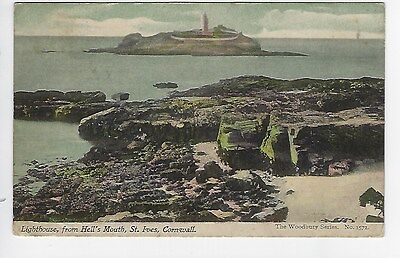 PC of  Lighthouse, from Hell's Mouth, St Ives, Cornwall