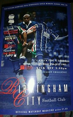 Birmingham City v Celtic Friendly season 1995-1996