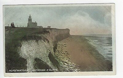 PC of  Hunstanton, Lighthouse and cliffs