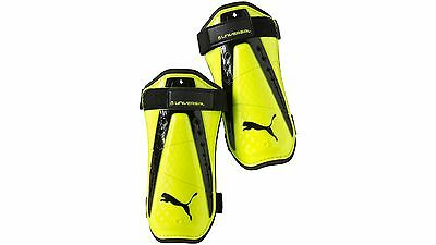 Puma King Universal Lightweight Shin Guards with Secure Velcro Straps (Large)