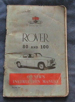 Rover 80 and 90 Owners Instruction Manual 1959