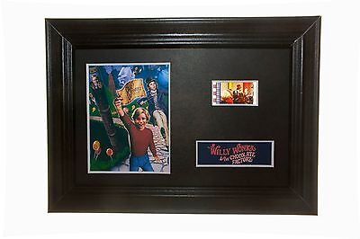 Willy Wonka - 6x4 Framed 35mm film cell display Nice Christmas Gift