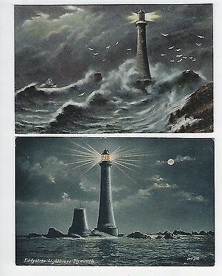 2 PCs of  Eddystone Lighthouse Plymouth