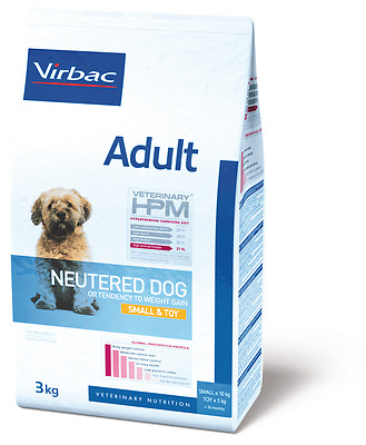 Croquettes Virbac Adult Neutered Dog Small & Toy Sac 3 kg