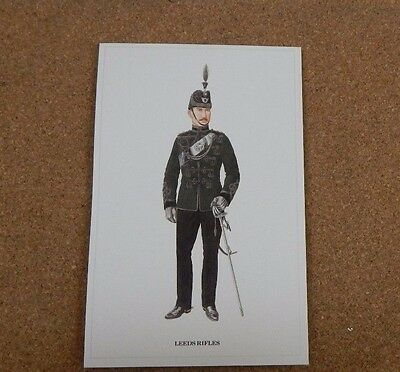Military Uniforms Postcard Officer Leeds Rifles unposted
