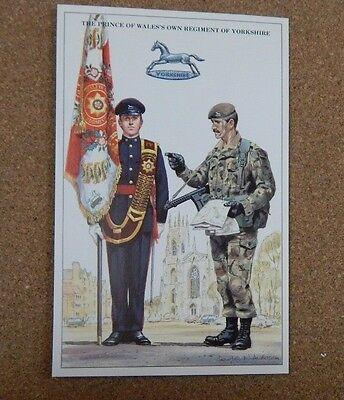 Military Uniforms Postcard prince Of Wales Own Regiment. unposted