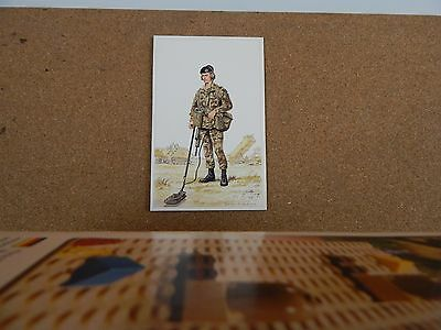 Military Uniforms Postcard corps of royal engineers modern Sapper unposted