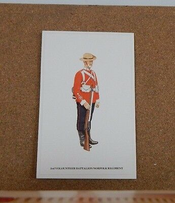 Military Uniforms Postcard Norfolk Regiment Volunteer Battalion. unposted