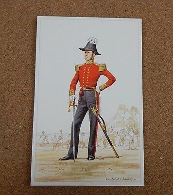 Military Uniforms Postcard corps of royal engineers Officer 1840. unposted