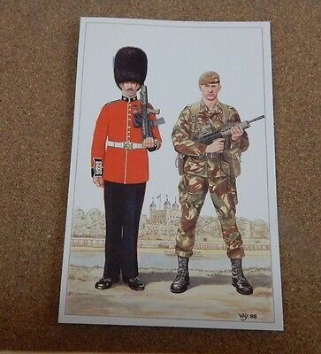 Military uniforms Irish Guard full dress and combat .unposted