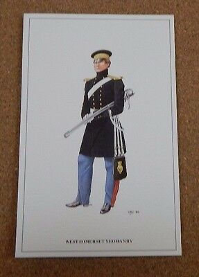 Military Uniforms Postcard West Somerset Yeomanry. unposted