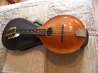 Vintage 1916 Gibson Mandolin 'a': Pumpkin Top : Serial # 32088 : With New Case