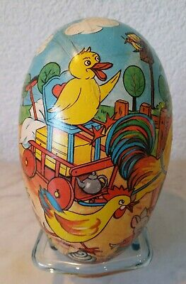 altes Ei Osterei Osterdekoration Hase Ente easter egg eastern candycontainer