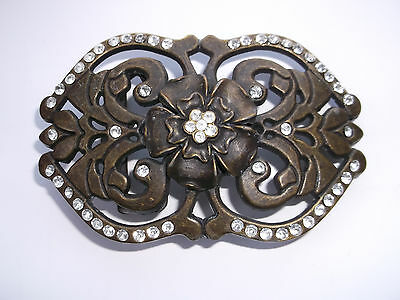 Brown And Jewelled Belt Buckle.
