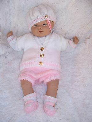 "New Knitted Baby Sailor Set For 18""-20""ashton Drake Vinyl Berenguer Reborn Doll"