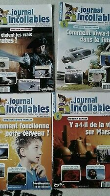 Lot de 4 magazines ''le journal des Incollables''
