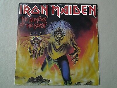 "Iron Maiden, The Number of the Beast 7"" - Red Vinyl"