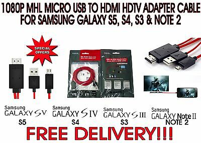 2M Micro USB To HDMI MHL 1080P Cable Adapter For Samsung Galaxy S5/S4 Note 2
