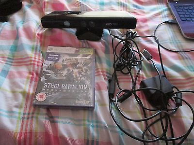 xbox 360 kinect sensor +steel battalion heavy armor new game