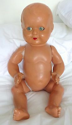 Vintage Baby Doll. Marked: 'Made in England 45'.