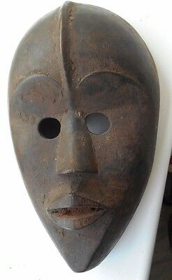 African Hand Carved Wood Head Tribal Art Antique? Cote d'Ivoire/ Liberia Dan ?
