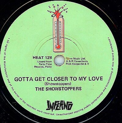 Northern Soul - Showstoppers - Gotta Get Closer To My Love - Uk Inferno Label