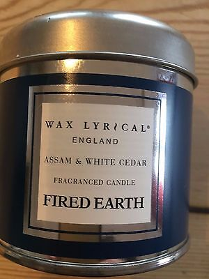 Wax Lyrical Fired Earth Candle Assam and White Cedar