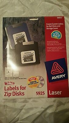 Brand New Avery White Labels for Zip Disks 5925