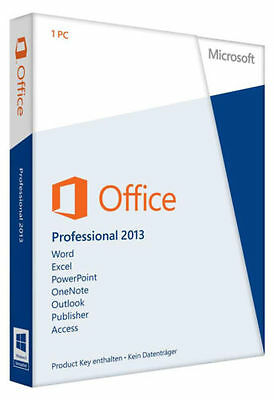 Microsoft Office 2013 Professional 32/64 Bit Full Retail Version
