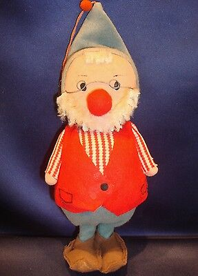"Vintage Christmas Elf Ornament 9"" Felt Dream Dolls Very Cute"