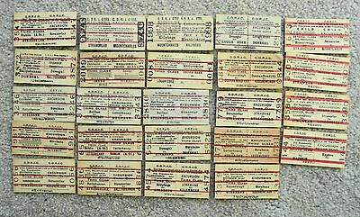 24 COUNTY DONEGAL RAILWAYS JOINT COMMITTEE (CDRJC) excursion tickets