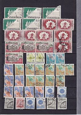 b Siam Thailand Selection of Early Postal Used Stamps Some HCVs