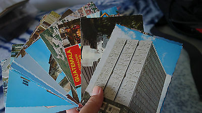 Lot of 15 GUATEMALA postcards all are clear on the back