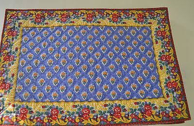 Set Of 6 Souleiado Provencal Quilted Placemats Ss419