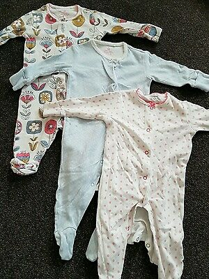 Baby girls ted baker next mamas and papas baby grow bundle 3 - 6 months