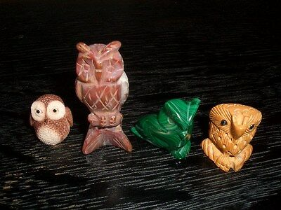 Small Owl Collectable Ornaments x 4