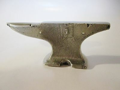 Vintage Miniature Aluminum Anvil Paperweight 3 1/2 Inches