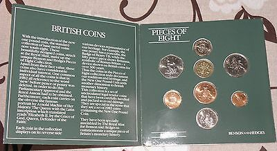 1983 Benson & Hedges Pieces Of Eight Uk Uncirculated 8 Coin Collection Rare Set