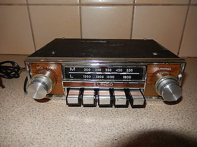 VINTAGE ELPICO 1960's CAR RADIO - SEE PICTURES - DESIRABLE & COLLECTABLE