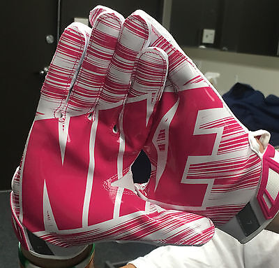 NWT NIKE SUPERBAD 3.0 MENS FULL PROTECTION FOOTBALL GLOVES PINK X-Large BCA