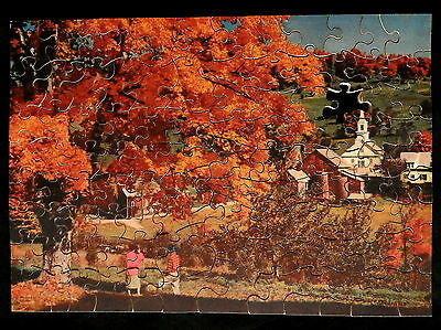 JOSEPH K STRAUS Wood Jigsaw Puzzle THE GLORY THAT IS AUTUMN # 219 (as is)