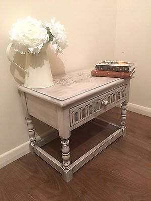 Rustic Table Occasional End Side Coffee - Drawer – Stencil & Antique Distressed
