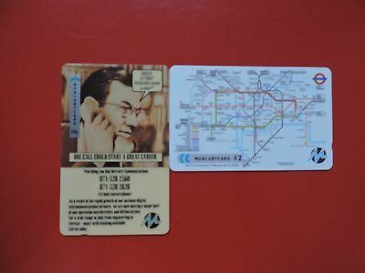 2 Collectable  Mercury Uk Phone Cards Used.  Lot 4