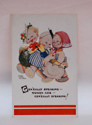 MABEL LUCIE ATTWELL  . GENERALLY SPEAKING   attwell POSTCARD vintage old