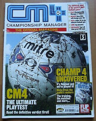 CM4 Championship Manager 4 - The Official Magazine, March 2003, Demo Edition