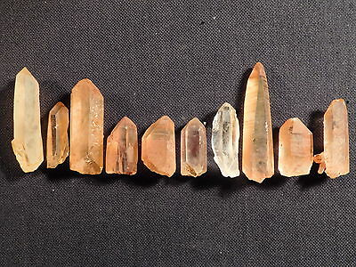 A Big Lot of Small 100% Natural Quartz Crystals with Hematite Brazil 104gr