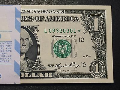 STAR NOTE $1 Dollar Bill ,2006 ,San Francisco,consecutive,uncirculated *GEM*